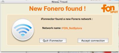 iFonnector cerca Fonere e connetti con Mac