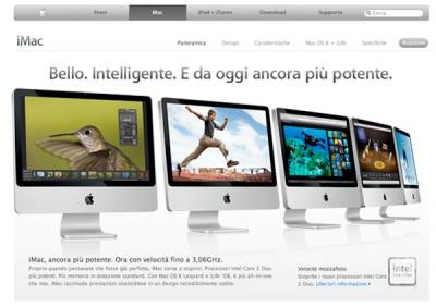 Presentazione dell\'iMac nell\'AppleStore