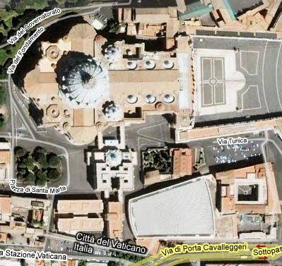 la Sala Nervi o Aula Paolo VI con tetto fotovoltaico